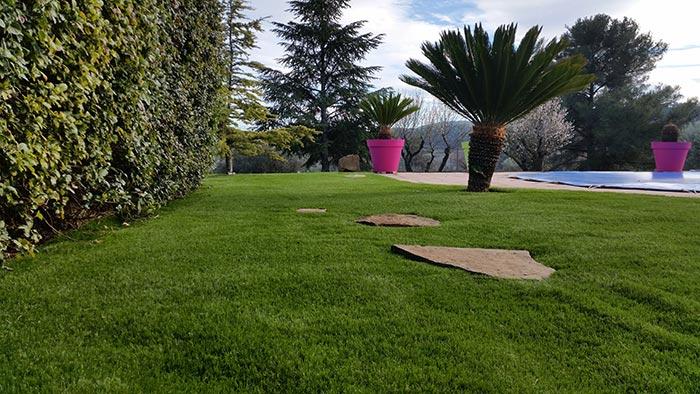 Achat et pose d' une pelouse synthétique à Hyères