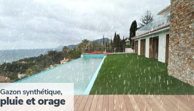 Illustration : Gazon synthétique et pluie : Ce qu'il faut savoir
