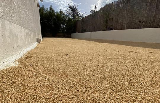 Gravier recouvert de sable